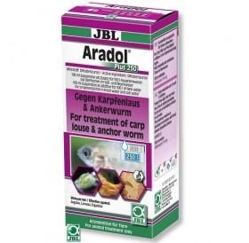 JBL Aradol Plus 250 /срещу червеи, хрилни паразити, шаранова въшка (carp louse), червеи, (Anchor worm - ракообразни), и други кожни паразити/-100мл