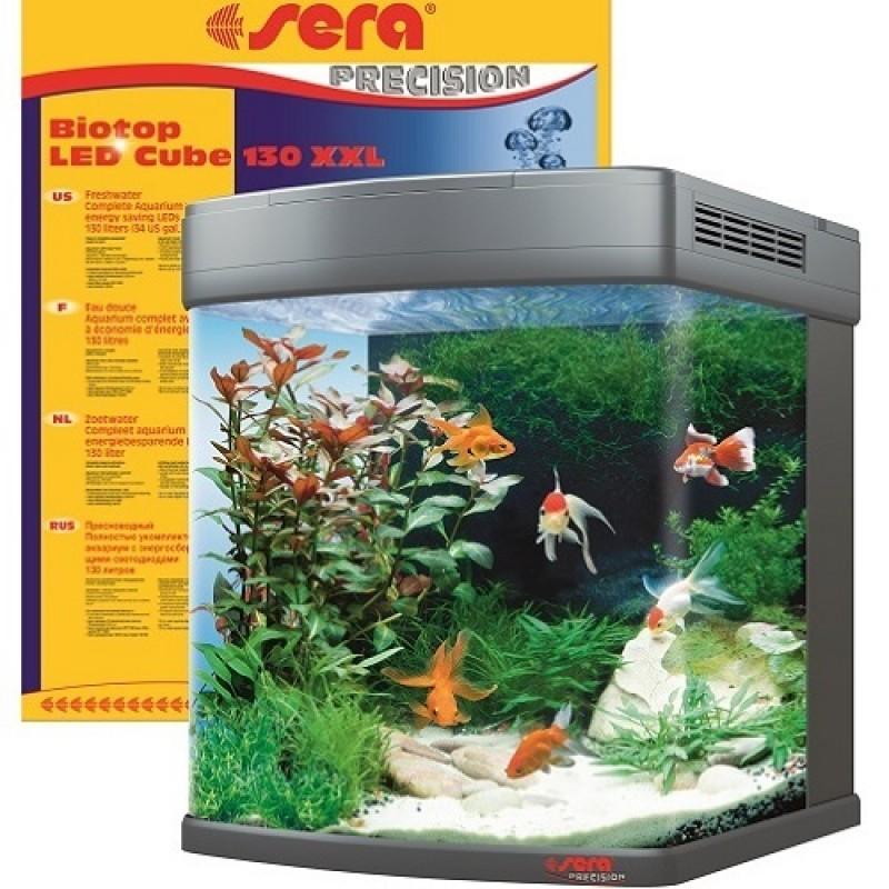 Sera Biotop LED Cube 130 XXL /аквариум с пълно оборудване 130л/-51x58x62,6см