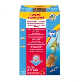 Sera Super Peat /торф на гранули за естествена тропическа мека вода/-500гр