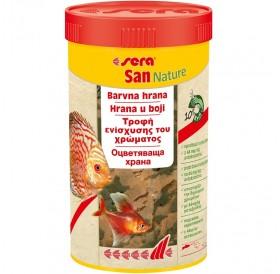 Sera San Nature /Оцветяваща Храна Състояща Се От Люспи С 10% Крил За Развитие На Естествен Цвят/-12гр