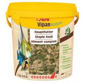 Sera Vipan Nature /Основна Храна На Люспи За Всички Декоративни Рибки/-10л