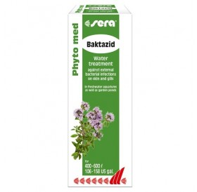 Sera® Phyto med Baktazid /билков препарат срещу външни бактериални инфекции на кожата и хрилете/-30мл