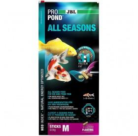 JBL ProPond All Seasons M /Целогодишна Храна На Гранули За Езерни Рибки/-32л