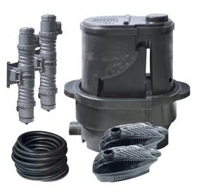 Sera Koi Professional 24000 Pond Filter + 2 UV-C-Systems 55W + 2 Pond Pump PP 12000 /езерен филтър с 2 UV-C системи за пречистване и 2 помпи/