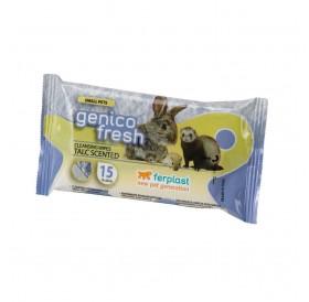 Ferplast Genico Fresh Talc /ароматизирани почистващи кърпички за дребни животни 15x20см/-15бр