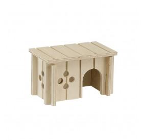 Ferplast SIN 4641 /дървена къщичка за за хамстери и други малки гризачи/-12,5x7,5x7см