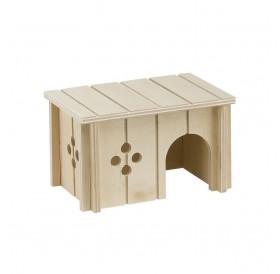 Ferplast SIN 4642 /дървена къщичка за за хамстери и други малки гризачи/-14,5x9,5x8,5см
