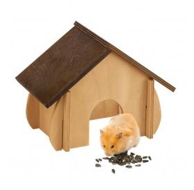 Ferplast SIN 4648 /дървена къщичка за за хамстери и други малки гризачи/-19x9,6x13,8см