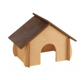 Ferplast SIN 4649 /дървена къщичка за морско свинче/-32,6x17,3x22см