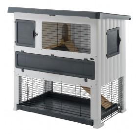Ferplast Grand Lodge 120 Plus /оборудвана клетка за зайци/-115,5x73x117см