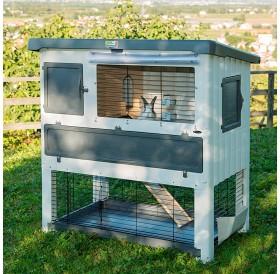 Ferplast Grand Lodge 140 Plus /оборудвана клетка за зайци/-134x73x117см