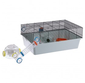 Ferplast Kios /напълно оборудвана клетка за хамстери и мишки/-70x47x28см