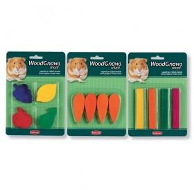 Padovan® Wood Gnaws /дървени играчки за  хамстери (плодове 4бр)/-1блистер