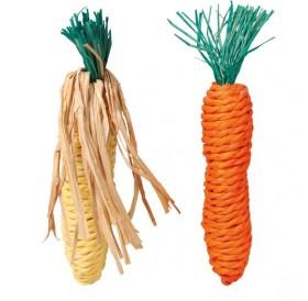 Trixie Set of Straw Toys /играчка за гризачи моркови 15см/-2бр
