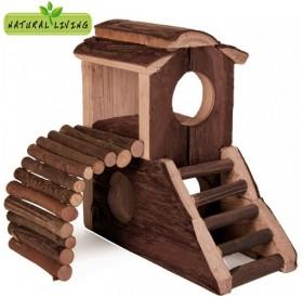 Trixie Mats House /дървена къщичка за хамстери и други малки гризачи/-17x17x10см
