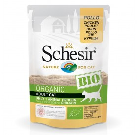 Schesir BIO Pouch Chicken /храна за израснали котки с пилешко месо/-85гр