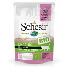 Schesir BIO Pouch Pork /храна за израснали котки със свинско месо/-85гр