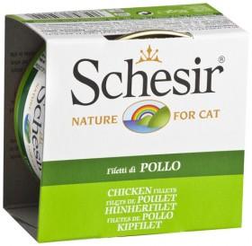Schesir Chicken Fillets in Jelly /храна за израснали котки с пилешки филенца в желе/-85гр