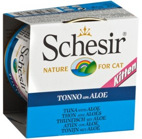 Schesir Kitten Tuna&Aloe in Jelly /храна за подрастващи котенца с риба тон и алое в желе/-85гр