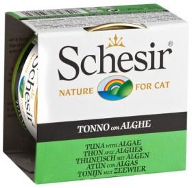 Schesir Tuna&Algae in Jelly /храна за израснали котки с риба тон и водорасли в желе/-85гр