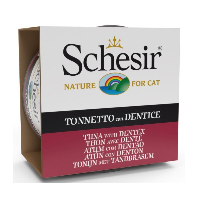 Schesir Tuna with Dentex /храна за израснали котки с риба тон и зубан в желе/-85гр