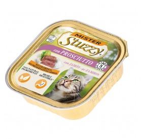 Mister Stuzzy Cat with Ham /храна за израснали котки пастет с шунка/-6х100гр