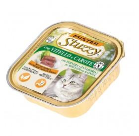 Mister Stuzzy Cat with Veal and Carrots /храна за израснали котки пастет с говеждо и моркови/-6х100гр