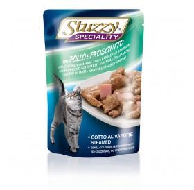 Stuzzy Speciality Cat with Ham and Chicken /храна за израснали котки с пиле и прошуто/-6х100гр
