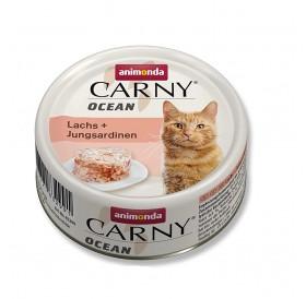 Animonda Carny Ocean Adult Salmon&Young Sardines /деликатесна храна за израснали котки със сьомга и млада сардина/-80гр