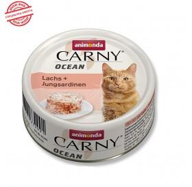 Animonda Carny Ocean Adult Salmon&Young Sardines /деликатесна храна за израснали котки със сьомга и млада сардина/