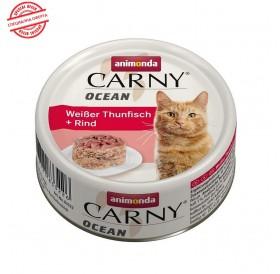 Animonda Carny Ocean Adult White Tuna&Beef /деликатесна храна за израснали котки с риба тон и говеждо/