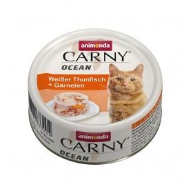 Animonda Carny Ocean Adult White Tuna&Shrimps /деликатесна храна за израснали котки с бяла риба тон и скариди/-80гр
