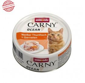 Animonda Carny Ocean Adult White Tuna&Shrimps /деликатесна храна за израснали котки с бяла риба тон и скариди/