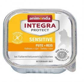 Animonda Integra Protect Sensetive Adult with Turkey+Rice /профилактична храна за котки с чувствителен стомах с пуешко месо и ориз/-100гр