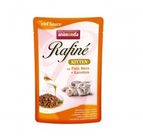 Animonda Rafine Sauce Kitten with Turkey Heart+Carrots /храна за подрастващи котенца с пуешко месо сърца и моркови/-100гр