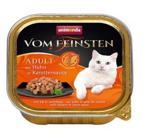Animonda Vom Feinsten Adult Chicken in Carrot Sauce /хапки за котки над 12 месеца с пиле в сос от моркови/-100гр