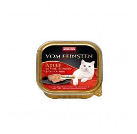 Animonda Vom Feinsten Adult Beef, Chicken Breast and Herbs /пастет за котки над 12 месеца с говеждо,пилешки гърди и билки/-100гр