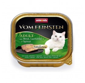 Animonda Vom Feinsten Adult Beef, Salmon fillet and Spinach /пастет за котки над 12 месеца с говеждо,филе от сьомга и спанак/-100гр