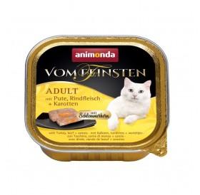 Animonda Vom Feinsten Adult Turkey,Beef and Carrots /пастет за котки над 12 месеца с пуйка,говеждо и моркови/-100гр