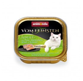 Animonda Vom Feinsten Adult Turkey, Chicken Breast and Herbs /пастет за котки над 12 месеца с пуйка,пилешки гърди и билки/-100гр
