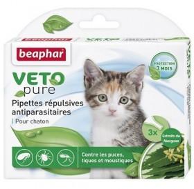 Beaphar Veto Pure Bio Spot-on Kitten /био противопаразитни пипети с репелентно действие/-3бр