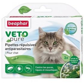 Beaphar Veto Pure Bio Spot-on Cat /био противопаразитни пипети с репелентно действие/-3бр