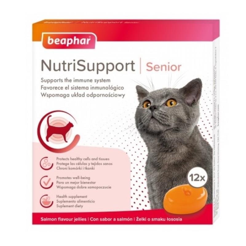 Beaphar® NutriSupport Senior Cat /хранителна добавка за поддържане на имунната система при възрастни котки/-12бр