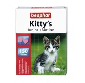 Beaphar Kitty's Junior + Biotine /Витамини За Подрастващи Котенца С Биотин/-150бр