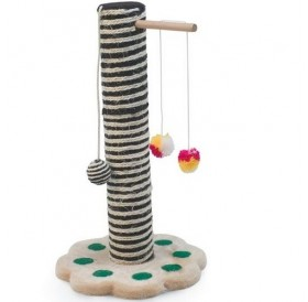 Camon Two-Colours Scratching Post with Cat Toys /котешка драскалка/-Ø30x52см