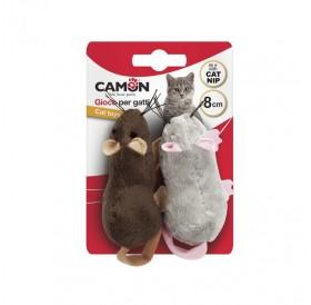 Camon Mice With Pocket For Catnip /Плюшени Мишлета С Джобче За Котешка Трева 8см/-2бр