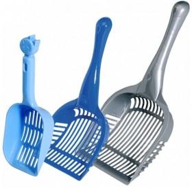 Camon® Colourful Plastic Scoop /пластмасова лопатка (с борд) за почистване на котешка тоалетна/-10x26см