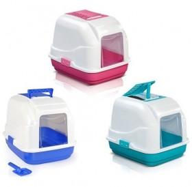 Camon® Easy Litter Box /закрита котешка тоалетна с филтър и лопатка/-40x50x41см