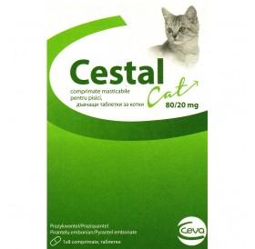 Cestal Cat /дъвчащи обезпаразитяващи таблетки за котки/-8бр