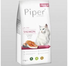Piper Animals Cat Sterilised Whit Salmon /Храна За Кастрирани Котки С Месо От Сьомга/-3кг